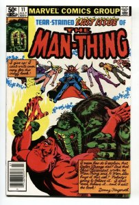 Man-Thing #11 Last issue-1981-Newsstand variant