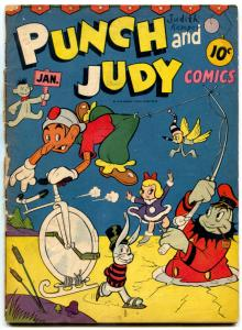 Punch and Judy #6 1946- Golden Age Funny Animals- restored G