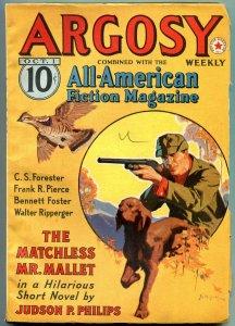 Argosy Pulp October 1 1938- Judson Philips- Hornblower- DL Champion