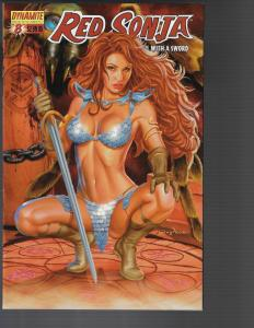 Red Sonja #8 (Dynamite) -   Greg Horn 'Poised' Cover