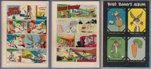 Four Color Bugs Bunny 281, 393, 498 old DC Comic lot 1950s