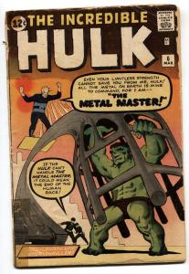 INCREDIBLE HULK #6-1962 12 cent-Marvel-Silver-Age Comic