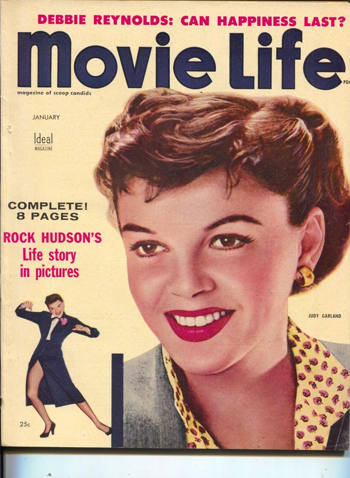 Movie Life Judy Garland Marilyn Monroe Tyrone Power Kirk Douglas Jan 1955 Hipcomic
