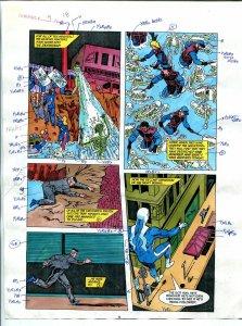 Elementals #9 Page #18 Original Color Guide Ken Feduniewicz