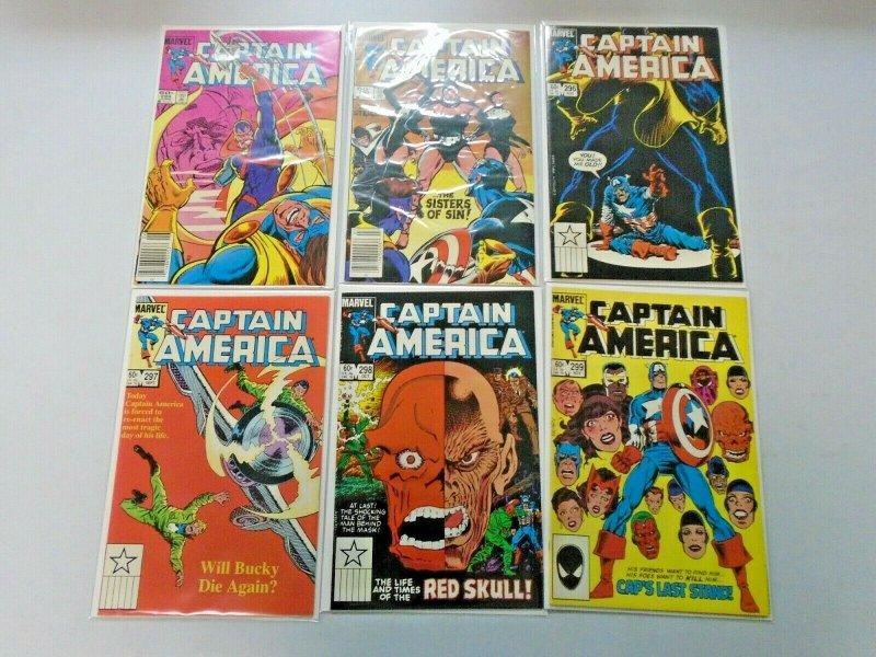 Captain America Comic Lot #250-299 46 Diff Avg 7.0 (Range 6.0-8.0) (1980-1984)