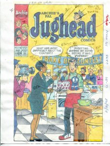Jughead Comics #116 Hand Painted Cover Color Guide 1998- Archie