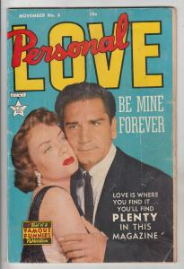 Personal Love #6 (Nov-50) VG+ Affordable-Grade Richard Conte, Audry Totter