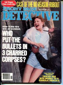 Front Page Detective 11/1981-spicy babe-diabolic Dracula-no reason rubout-FN