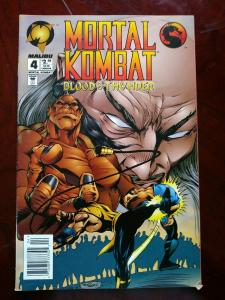MALIBU COMIC BOOK MORTAL KOMBAT #4 BLOOD & THUNDER  1994