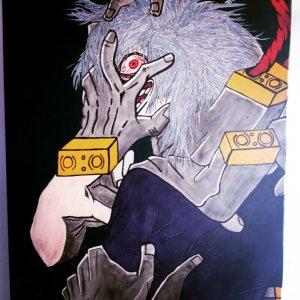 My Hero Acadamia Tomura Shigaraki Original hand painted artwork 16x20 canvas