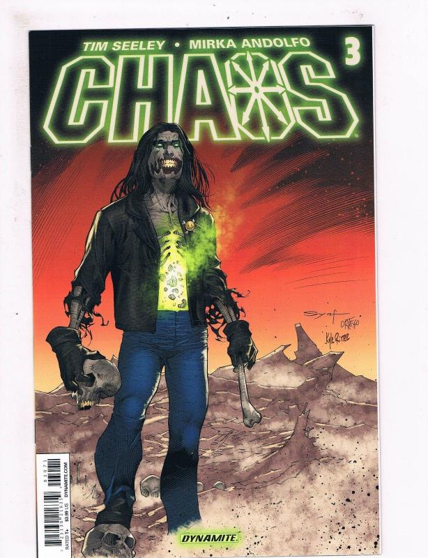 Chaos # 3 NM 1st Print Subscription SYAF Variant Cover Dynamite Comic Book S65