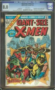 Giant-Size X-Men 1 CGC 8.0   1st New X-Men   2nd full Wolverine   White Pages