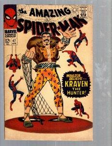 Amazing Spider-Man # 47 VF- Marvel Comic Book Lizard Vulture Goblin Scorpion TJ1