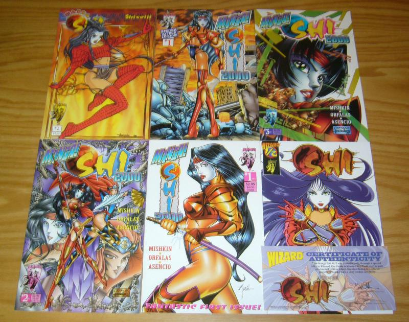Manga Shi 2000 #½ & 1-3 VF/NM complete series + shiseiji + sneak attack - half