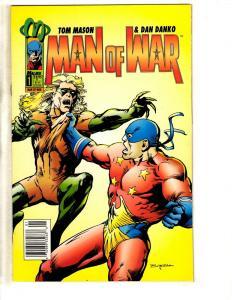 Lot Of 7 Man Of War Malibu Comic Books # 1 2 3 4 5 6 7 Tom Mason Dan Danko CR28