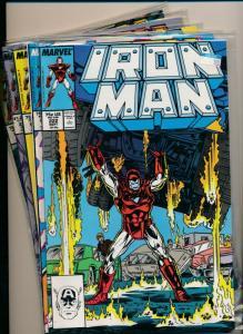 MARVEL SET of 5-IRON MAN #222-226  1984  VERY FINE (PF724)