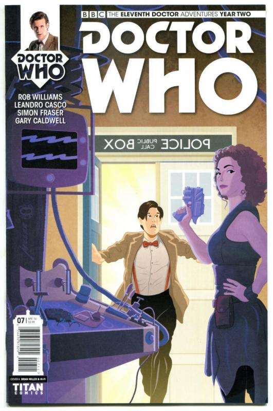 DOCTOR WHO #7 A, NM, 11th, Tardis, 2015, Titan, 1st, more DW in store, Sci-fi