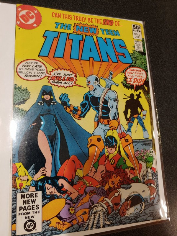 THE NEW TEEN TITANS #2 1ST APPEARANCE OF DEATHSTROKE