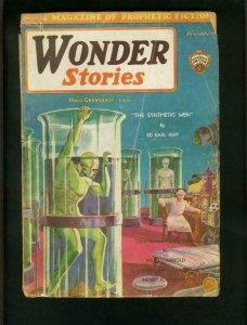 WONDER STORIES 1930 DEC-FRANK R PAUL COVER ART-PULP G/VG