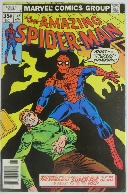 AMAZING SPIDER-MAN  #176 (Marvel,1/1978)  (VF-) Green Goblin! Wein & Andru