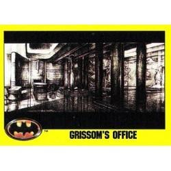1989 Batman The Movie Series 2 Topps GRISSOM'S OFFICE #168