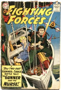 OUR FIGHTING FORCES #53-GUNNER AND SARGE & THE NURSE-KUBERT ART-1960