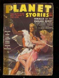 PLANET STORIES-FALL 1943-ROZEN GOOD GIRL ART COVER-PULP FR
