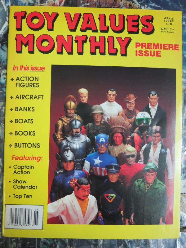 Toy Values Monthly Magazine Premiere Issue v1 #1 May 1991 Feat. Captain Action!