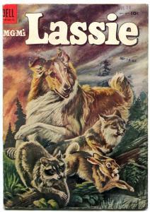 LASSIE #18-1954-MOVIE-TV-COLLIE-FOREST FIRE-vg