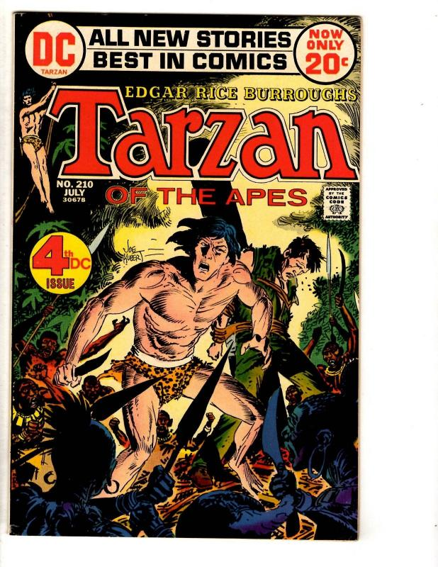Tarzan # 210 VF/NM DC Comic Book Early DC Issue Joe Kubert Cover Art TD6