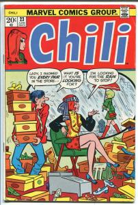 CHILI  #23 1973-MARVEL-MILLIE THE MODEL-FASHIONS-SPICY-GOOD GIRL ART-vg