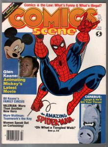 Comics Scene #8 1983-Spider-man-Bil Keane-Marv Wolfman-Cerebus-VF