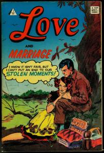 LOVE AND MARRIAGE #8 - I.W. -ROMANCE COMICS-KINSTLER FN