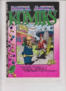 Radical America Komiks #1 FN (2nd) gilbert shelton - freak bros - s. clay wilson