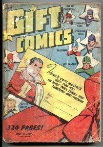 Gift Comics #2 1942- CAPTAIN MARVEL- Bullet Man RARE low grade