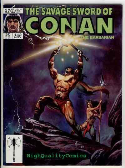 SAVAGE SWORD of CONAN #142, FN+, Vengeance, Ernie Chan, Joe Jusko