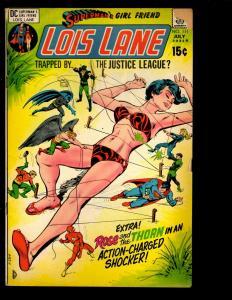 Lot Of 5 Superman's Girl Friend Lois Lane DC Comic Books 111 120 121 123 125 NE3