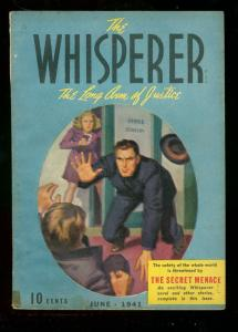 WHISPERER PULP JUNE '41 SECRET MENACE STREET & SMITH #5 VG