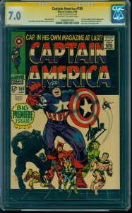 Captain America #100 CGC 7.0 OW SS Signature Series Signed by Stan Lee!