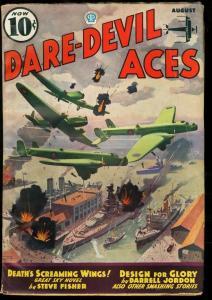 DARE-DEVIL ACES 1936 AUG-WWI BOMBING CVR-PULP FN