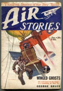 Air Stories Pulp January 1929- WINGED GHOSTS- aviation G/VG