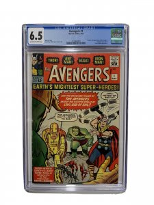 Avengers 1 Cgc 6.5 Ow/w Pages Marvel Silver Age