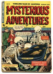 MYSTERIOUS ADVENTURES #9-Extreme Violence-Pre-Code horror-1952
