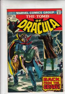 Tomb of Dracula #16 (Jan-74) FN/VF+ High-Grade Dracula