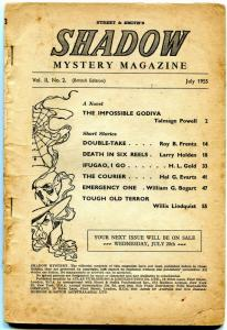 Shadow Mystery Magazine British Pulp July 1955- Talmage Powell FAIR