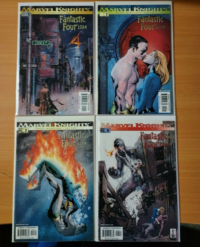 Fantastic Four: 1234 1-4 Complete Set Run! ~ NEAR MINT NM ~ 2002 Marvel Comics
