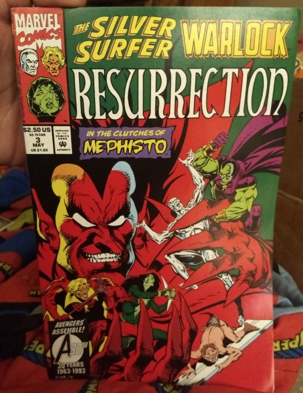 Resurrection #3 NM Featuring Silver Surfer and Warlock