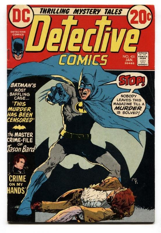 DETECTIVE COMICS 431 Comic Book 1972 BATMAN Elongated Man