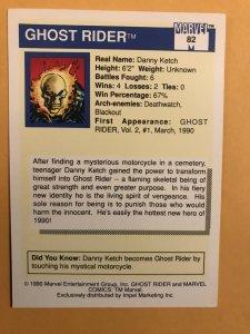 GHOST RIDER #82 : 1990 Marvel Universe Series 1 card, NM/M,  Rookies