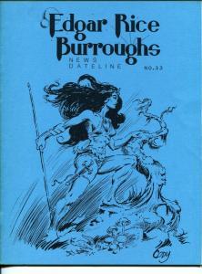 Edgar Rice Burroughs News Dateline #33 1989-Tarzan-new format issue-VF